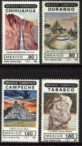 MEXICO 1274-1277 Promotion of Tourist Sites MNH