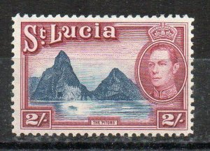 St Lucia 1938-48 2s  MLH