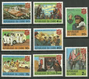 Zaire MNH 960-7 Salvation Army 100th Anniversary 1959 SCV 4.60