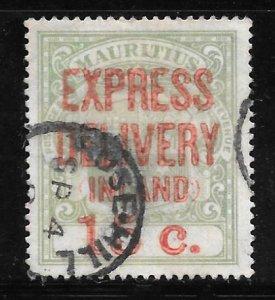Mauritius E4: 15c Overprint, used, VF