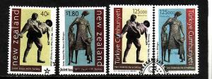 New Zealand-Sc#1490-1-used set plus joint issue used set fro