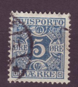J16638 JLstamps 1907 denmark used #p2 newspaper stamp