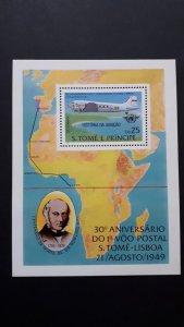 Aviation - Planes - Sao Tome and Principe 1979. ** MNH Block