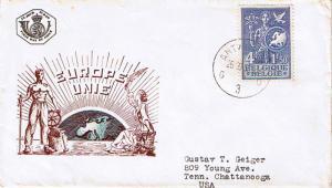 Belgium 4F+1.50F European Bureau of Childhood and Youth Semi-Postal 1953 Antw...