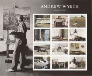 US 5212 Andrew Wyeth forever sheet (12 stamps) MNH 2017