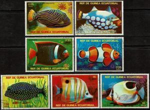 Equatorial Guinea Scott Unlisted (SW 1676-1682) Used/CTO (1979) Complete - Fish