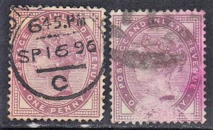 GREAT BRITAIN  #89  USED  1881  QUEEN VICTORIA  SEE SCAN