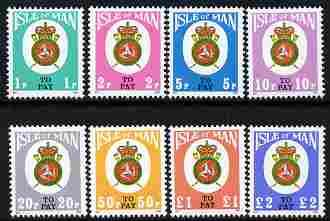 Isle of Man 1982 Postage Due Post Office Badge complete s...