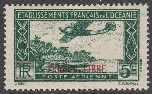 French Polynesia C2 MH CV $7.25