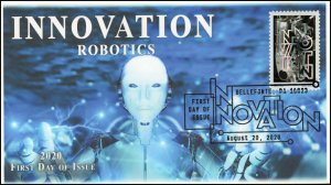 20-186, 2020, SC 5517, Innovation, First Day Cover, Pictorial Postmark, Robotics