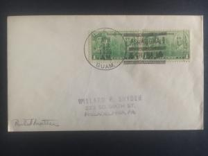 1939 US Navy Post Office Shanghai China Cover to USA USS Guam