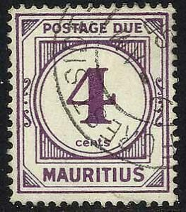Mauritius SGD9 4c Wmk w12 Post Due Fine Used Cat 14 pounds