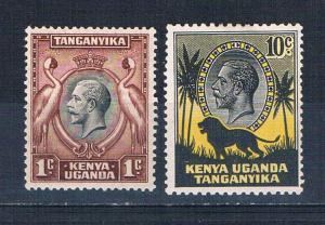 Kenya Uganda and Tanzania 46 and 48 MLH King George V 1935 (K0016)