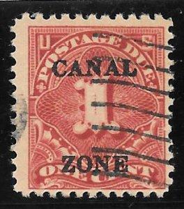 Canal Zone Scott #J18 Used 1c Postage Due O/P  2016 CV $2.75