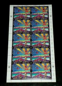 U.N. VIENNA #132a, 1992 PETER MAX, EARTH SUMMIT, MNH, PANE/40 NICE! LQQK!