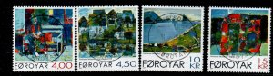 Faroe Islands Sc 397-400  2001 Heinesen Paintings stamp set used