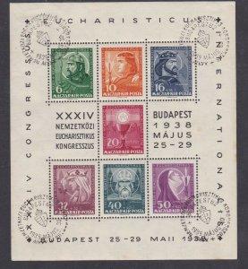 ROW67) Hungary 1938 Eucharistic Congress sheetlet