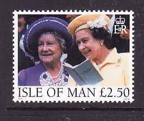 Isle of Man-SC#802 set-unused-NH-Queen Mother & QEII-