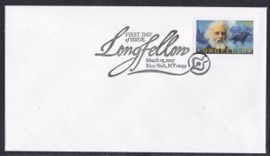 United States # 4124, Longfellow, 1st Day Cover