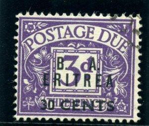 BOFIC - Eritrea 1950 KGVI Postage Due 30c on 3d violet VFU. SG ED9. Sc J9.