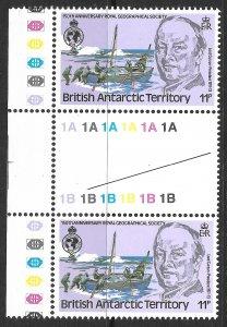Doyle's_Stamps: British Antarctic Terr. V-Gutter Pair w/Scott #78** Inverted WMK
