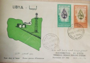 O) 1962 LIBYA, AFRICA, DROP OIL WITH NEW CITY DESERT, OIL WELLS  - COAST LINE,