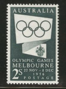 AUSTRALIA Scott 286 MH* 1955 Melbourne Olympic stamp