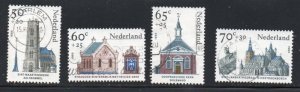 Netherlands Sc B611-14 1985 Religious Architecture stamp set used