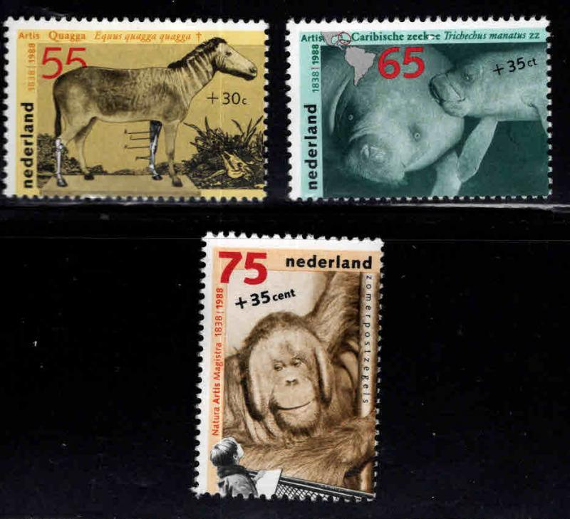 Netherlands Scott B6385-B6407  MNH** 1988 Zoo Animal set