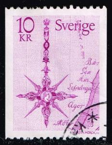 Sweden #1257 Compass Rose; Used at Wholesale