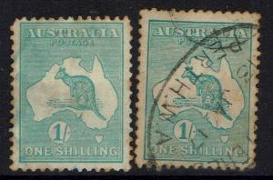 Australia SG# 40 & 40b - Used (Light Toning) - 031217