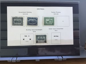 Italian Eritrea 1910-29:   mounted mint and used stamps R30143