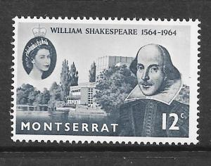 Montserrat #153  Shakespere  (MH) CV $0.35