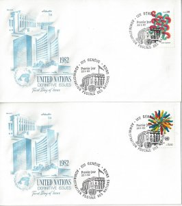 United Nations Geneva  105-6  FDC  Definitives