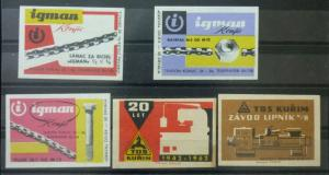 Match Box Labels ! industry machines elements science GN1