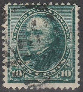 US #226  F-VF Used CV $5.00 (A734)