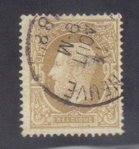 BELGIUM SC# 37 **USED** 25c  1875-78    SEE SCAN