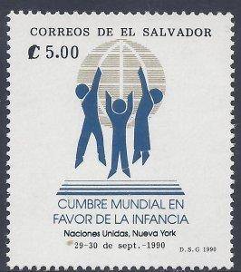 EL SALVADOR WORLD SUMMIT for CHILDREN Sc 1246 MNH 1990