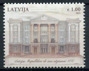 Latvia Architecture Stamps 2021 MNH Independence De Jure Recognition 1v Set