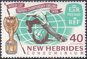 New Hebrides - British # 117 mnh ~ 40¢ World Cup Soccer