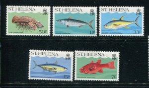 St. Helena MNH 433-7 Fish & Marine Life