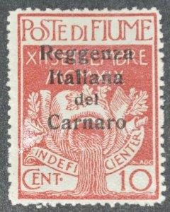 DYNAMITE Stamps: Fiume Scott #107 – MINT
