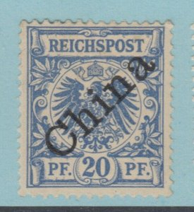 GERMAN OFFICES IN CHINA 4a MINT HINGED OG * NO FAULT EXTRA FINE!