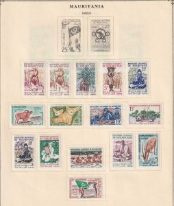 MAURITANIA  MAURITIUS  INTERESTING COLLECTION ON ALBUM PAGES - Y796