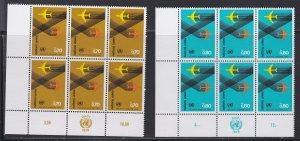 United Nations -Geneva #  77-78, Inscription Blocks of Six,  NH, 1/3 Cat.