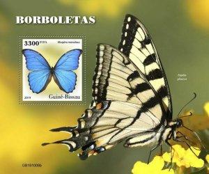 Z08 IMPERF GB191008b GUINEA BISSAU 2019 Butterflies MNH ** Postfrisch