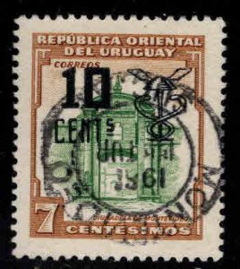 Uruguay Scott 638 Used surcharged stamp
