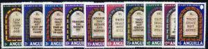 Anguilla 1983 Easter - The Ten Commandments set of 10, SG...