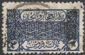 SAUDI ARABIA  1926  Sc 96  Used  VF, Pan-Islamic Congress overprint