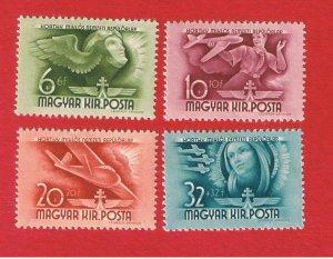 Hungary #B131-B134  MVFLH OG  Semi-Postal  Free S/H